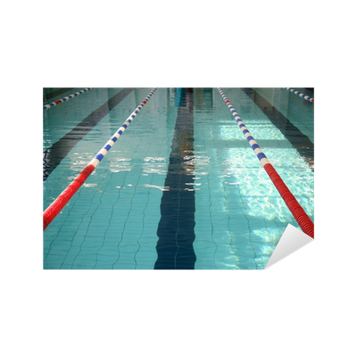 The Swimming Pool With Blue Water Sticker Pixers We Live To Change