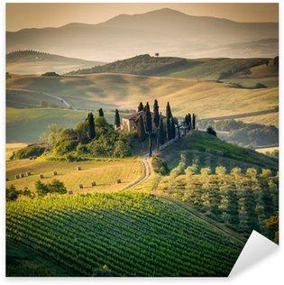 Sticker Pixerstick Toscane, campagne de paysage incroyable, Italie