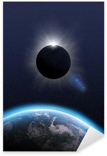 Total Eclipse Sun, moon, earth 3D Sticker - Pixerstick