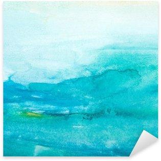 Sticker Pixerstick Touches de couleurs aquarelle art peinture