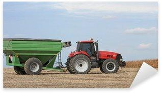 Sticker Pixerstick Tracteur et Grain Wagon