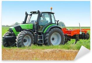 Tractor on the field Sticker - Pixerstick