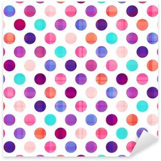 Sticker Pixerstick Transparente cercles texture de fond