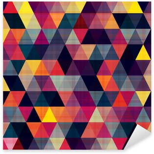 Sticker Pixerstick Transparente triangle fond
