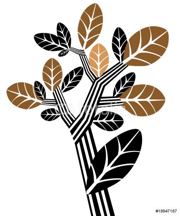 Sticker - Pixerstick Tree black and brown - Wall decals
