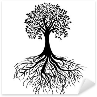 Sticker - Pixerstick Tree with roots
