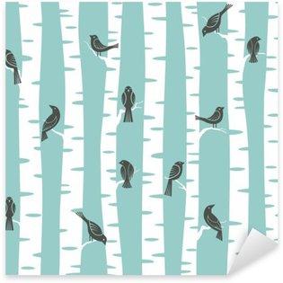 Sticker - Pixerstick trees pattern