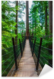 Sticker - Pixerstick Treetop Suspension Bridge in Capilano Park, British Columbia