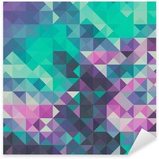 Sticker Pixerstick Triangle arrière-plan, vert et violet