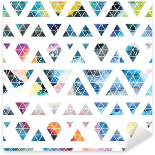 Tribal galaxy seamless pattern. Sticker - Pixerstick