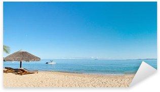 Sticker Pixerstick Tropical beach panorama