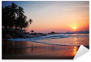 Sticker Pixerstick Tropical beach