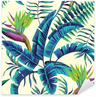 tropical exotic painting seamless background Sticker - Pixerstick