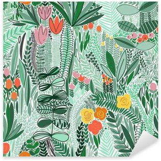 Tropical seamless floral pattern Pixerstick Sticker