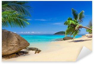 Pixerstick Sticker Tropisch strand landschap in Thailand