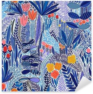 Pixerstick Sticker Tropische naadloos bloemenpatroon