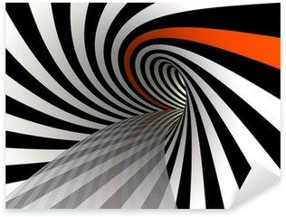 Sticker - Pixerstick Tunnel of lines, 3D