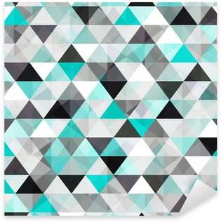turquoise shiny vector background Sticker - Pixerstick