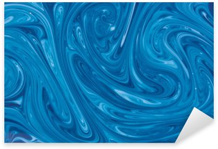 Sticker - Pixerstick turquoise watercolor marble background