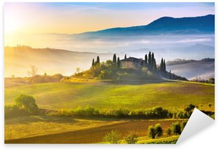 Tuscany at sunrise Sticker - Pixerstick