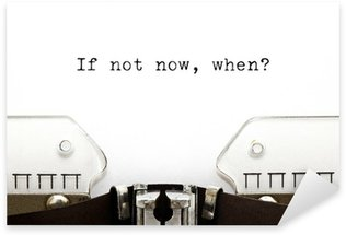 Sticker Pixerstick Typewriter If Not Now Quand