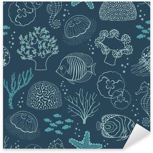 Sticker - Pixerstick Underwater life pattern