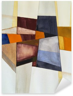Sticker Pixerstick Une aquarelle abstraite moderniste