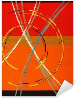 Sticker Pixerstick Une peinture abstraite avec des arcs, des cercles et des rayures