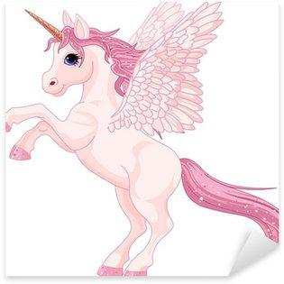 Unicorn Pegasus Sticker - Pixerstick