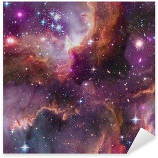 Pixerstick Sticker Universe background.Seamless.Elements van deze afbeelding geleverd door NASA