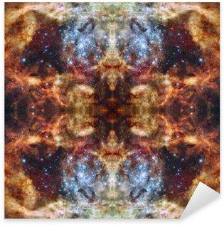 Pixerstick Sticker Universe simmetric achtergrond. Elementen van deze afbeelding geleverd