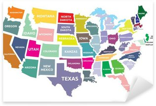 Pixerstick for All Surfaces USA map with states