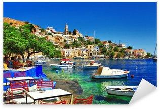Sticker Pixerstick Vacances grecques. L'île de Symi