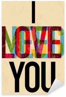 Pixerstick Sticker Valentijnsdag teksttype kalligrafische