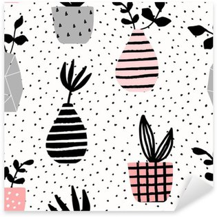 Sticker Pixerstick Vases et Pots Pattern Seamless