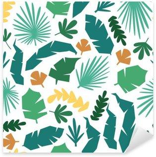 Sticker Pixerstick Vecteur motif jungle fond transparent