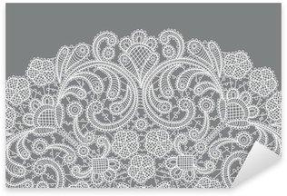 vector background with lace ornament Sticker - Pixerstick
