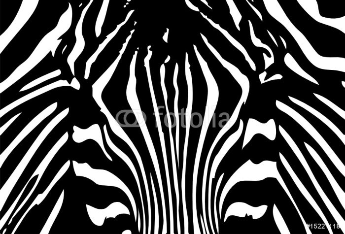 Sticker - Pixerstick vector - black and white zebra background - Styles