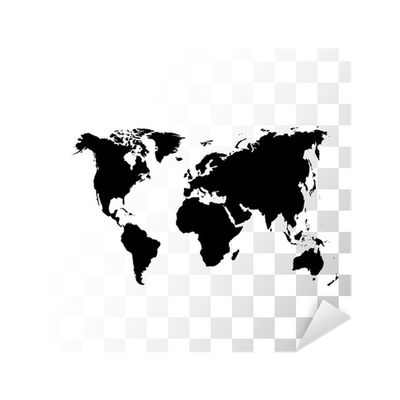 Vector black world map sticker pixers we live to change gumiabroncs Images