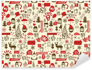 Pixerstick for All Surfaces vector, christmas repetive pattern