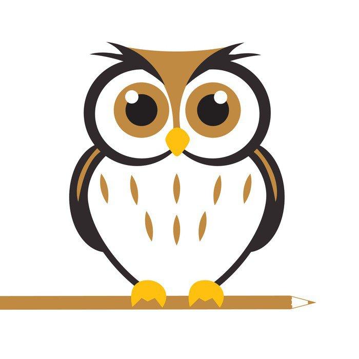 Sticker - Pixerstick Vector Cute Owl - Imaginary Animals