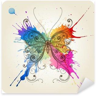 Pixerstick Sticker Vector decoratieve vlinder
