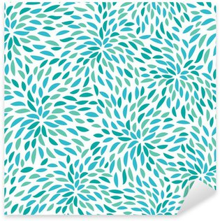 Pixerstick Sticker Vector flower pattern. Seamless floral background.