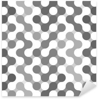 Pixerstick Sticker Vector geometrisch patroon van cirkels.