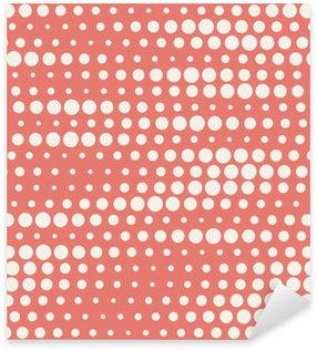 Vector illustration of seamless halftone background in red pastel colors