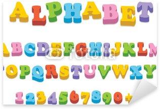 Pixerstick Sticker Vector koelkast magneet alfabet spelling brieven