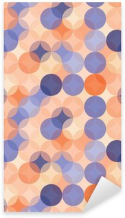 Vector modern seamless colorful geometry pattern circles , color blue orange abstract geometric background,wallpaper print, retro texture, hipster fashion design, Sticker - Pixerstick
