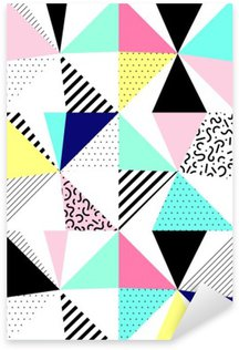 Pixerstick Sticker Vector naadloze geometrisch patroon. Memphis Style. Abstract '80.
