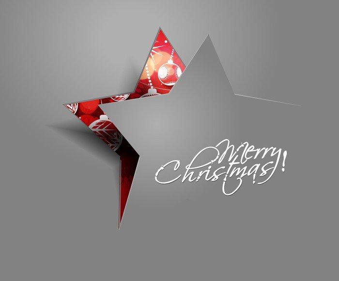 Sticker - Pixerstick vector peel off star christmas - Christmas