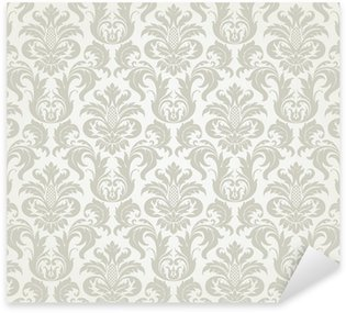 Sticker Pixerstick Vector seamless pattern floral de damassé